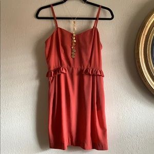 Dresses & Skirts - Cutest coral peplum!